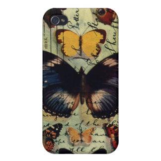 Postal de la mariposa iPhone 4 funda