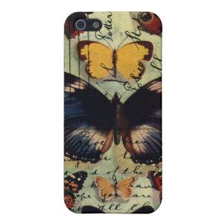 Postal de la mariposa iPhone 5 carcasa