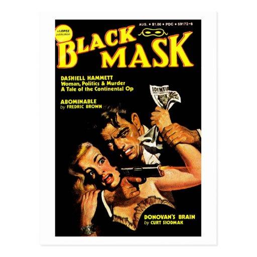 """Postal de la """"máscara negra"""""""