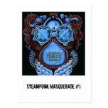 Postal de la mascarada #1 de Steampunk