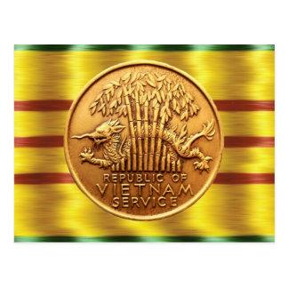 Postal de la medalla al servicio de Vietnam