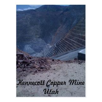 Postal de la mina de cobre de Kennecott
