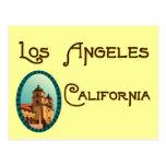 Postal de la misión del vintage de Los Ángeles Cal
