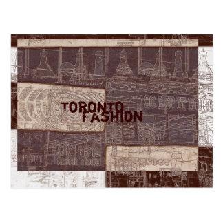 Postal de la moda de la calle de la reina de Toron