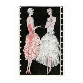 Postal de la moda de los años 20 del vintage