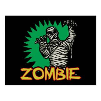 Postal de la momia del zombi