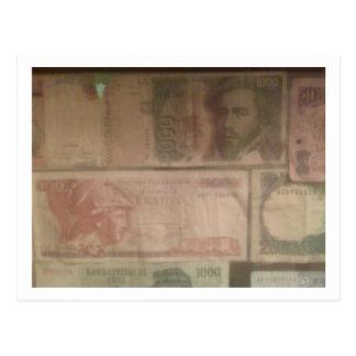 Postal de la moneda extranjera