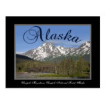 Postal de la montaña de Alaska Chugach