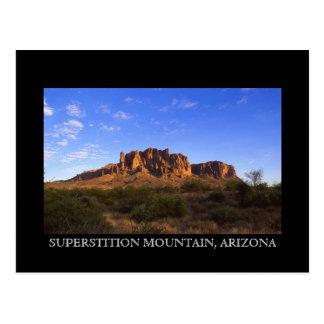 Postal de la montaña de la superstición