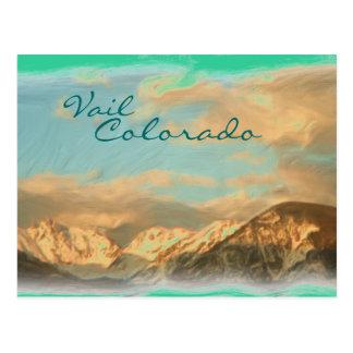 Postal de la montaña de Vail Colorado