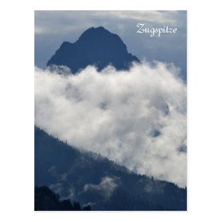 Postal de la montaña de Zugspitze