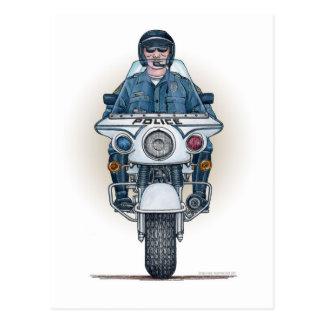 Postal de la motocicleta de la policía