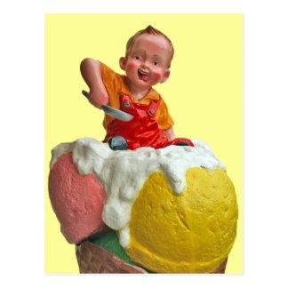 Postal de la muestra de la sala de helado del cono