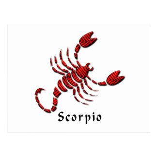 Postal de la muestra del escorpión