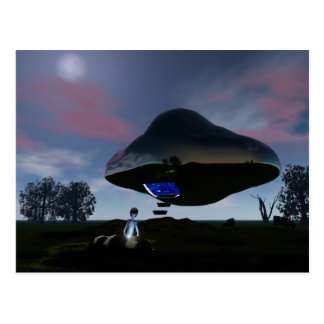Postal de la mutilación del ganado del UFO