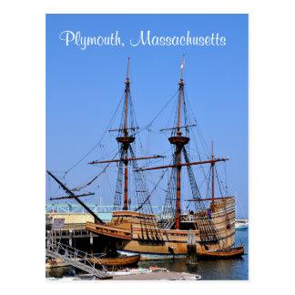 Postal de la nave de Plymouth Massachusetts Mayflo