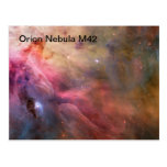 postal de la nebulosa de Orión