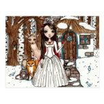 """Postal de la """"nieve"""" de Maigan Lynn"""