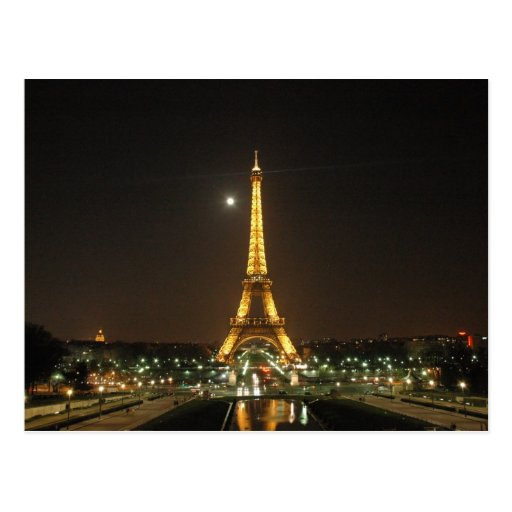 Postal de la noche de la torre Eiffel @