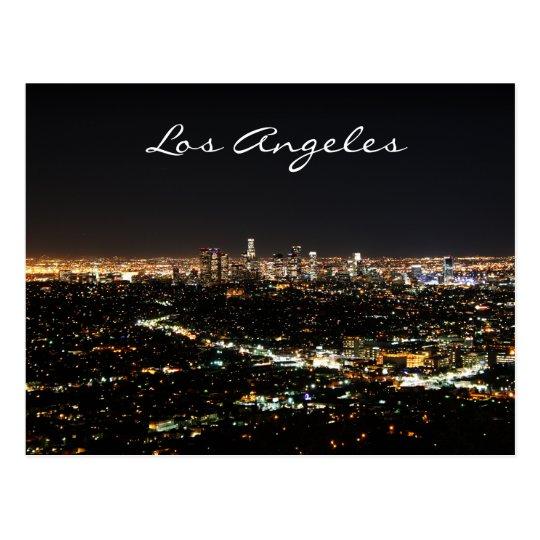 Postal de la noche de Los Ángeles