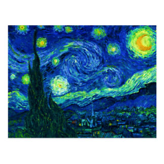 Postal de la noche estrellada