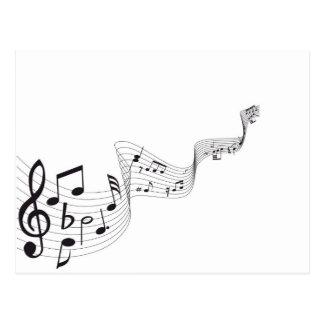 Postal de la nota musical