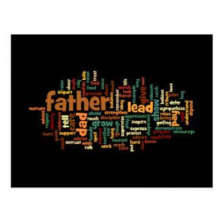 Postal de la nube de la palabra del padre