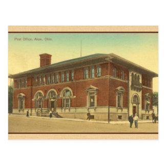 Postal de la oficina de correos de Akron Ohio del