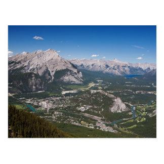 Postal de la opinión aérea de Banff