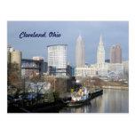 Postal de la opinión de Cleveland, el río Ohio