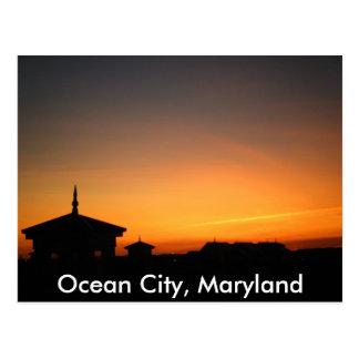 Postal de la opinión de la ciudad del océano