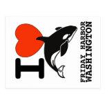 Postal de la orca del puerto de viernes
