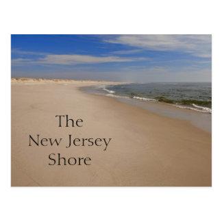 Postal de la orilla de NJ