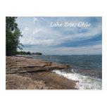 postal de la orilla del lago Erie