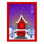 Postal de la pagoda del navidad
