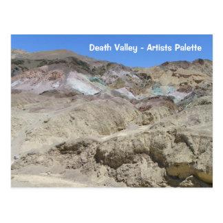 ¡Postal de la paleta de Death Valley de los artist