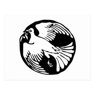 Postal de la paloma de la paz de la rama de olivo