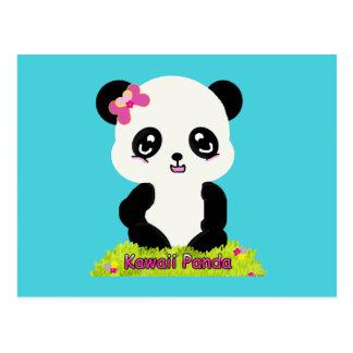 Postal de la panda de Kawaii