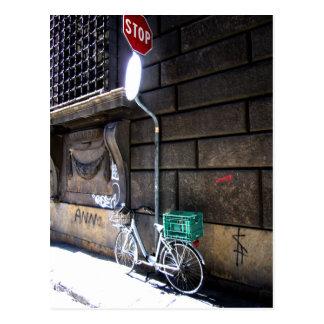 Postal de la parada de la bici