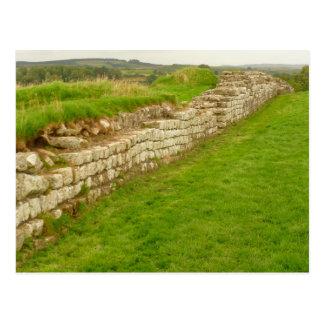 Postal de la pared de Hadrian