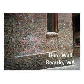 Postal de la pared de la goma
