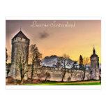 Postal de la pared de Musegg en Alfalfa Suiza