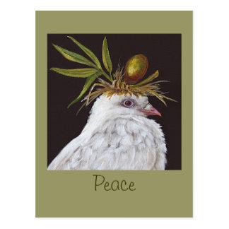 Postal de la paz con la paloma