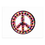 postal de la paz de 5 colores