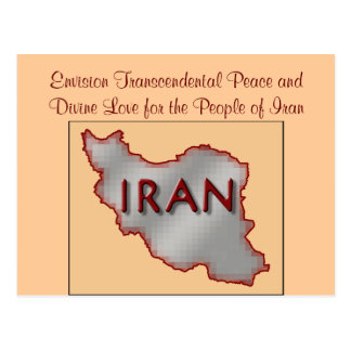 Postal de la paz de Irán