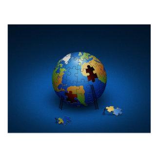 Postal de la paz de la tierra
