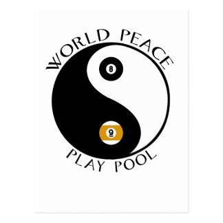 Postal de la paz de mundo