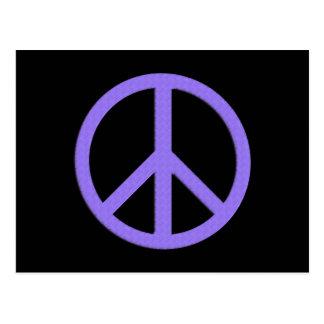 Postal de la paz (púrpura)