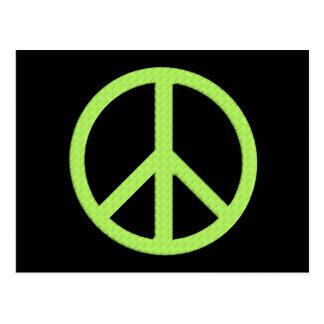 Postal de la paz (verde)