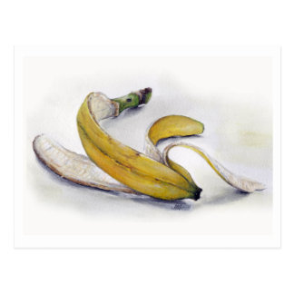 Postal de la piel de plátano